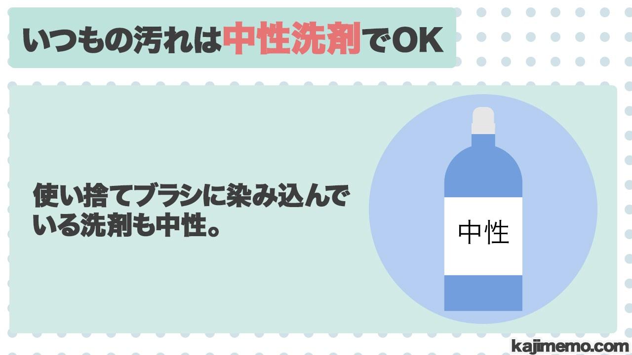 トイレの水垢汚れに効く洗剤の説明