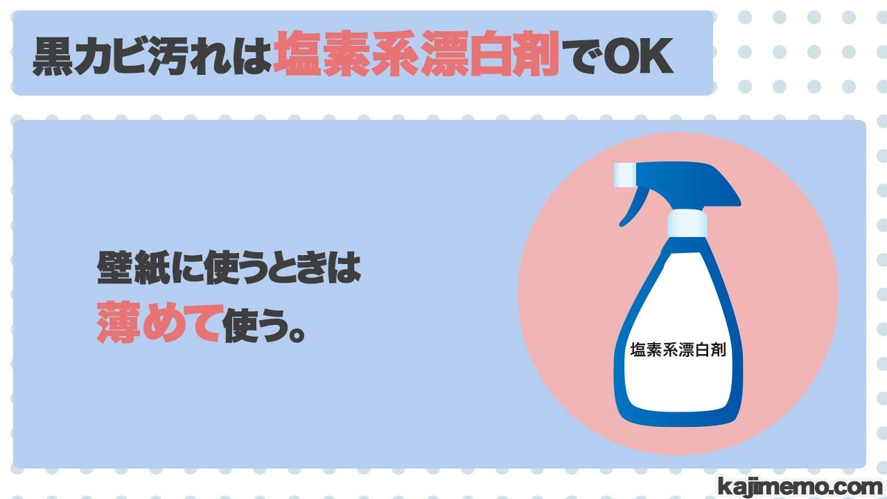 トイレの黒カビ汚れに効く洗剤の説明